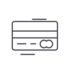 credit card line icon sign vector image
