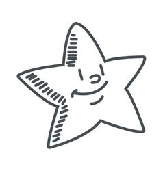 cute chubby star icon vector image