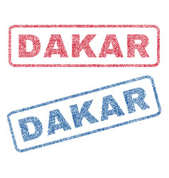 Dakar textile stamps vector