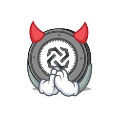 Devil bytom coin mascot cartoon vector