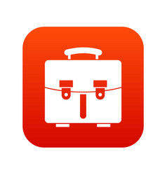 diplomat bag icon digital red vector image