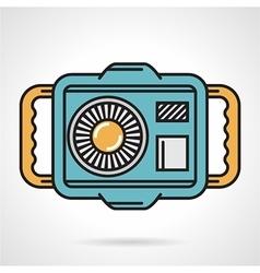 Diving camera flat design icon vector