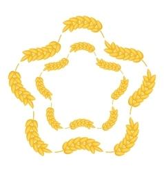 Ears wreath in flower shape icon cartoon style vector