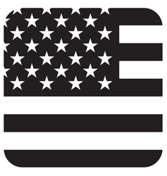 flag grayscale icon vector image