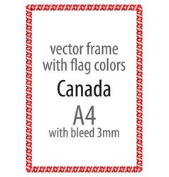 Flag v12 canada vector