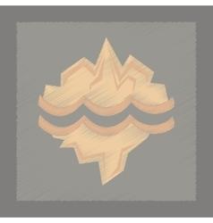 flat shading style icon melting glacier vector image