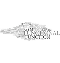 Functional word cloud concept vector