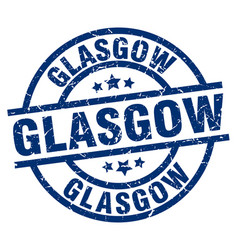 Glasgow blue round grunge stamp vector