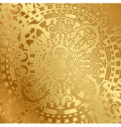 Gold background with oriental decoration vector