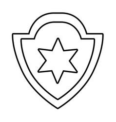 golden shield cartoon vector image