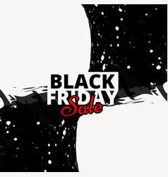 Grunge stylke black friday sale banner poster vector