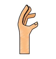 hand human language icon vector image