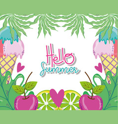 hello summer cartoons vector image