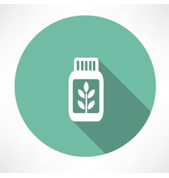 Herb medicine icon vector