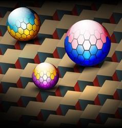 Hexagonal round on tiles vintage style vector