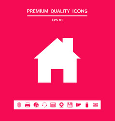 Home icon symbol graphic elements for your vector