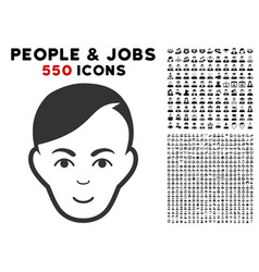 Human head icon with bonus vector