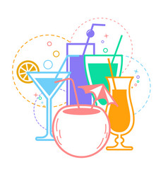 Icon white background cocktail vector
