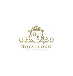 Initial rs letter luxurious brand logo template vector