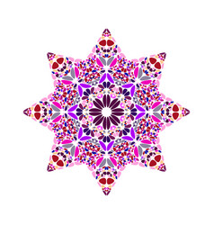 Isolated abstract geometrical gemstone ornament vector