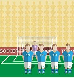 Italy soccer club penalty on a stadium vector