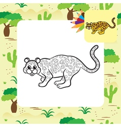 leopard coloring page vector image