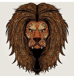 Lion brown colored vector image