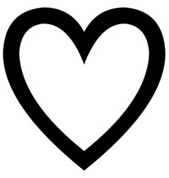Minimalistic black heart icon template vector image