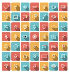 Modern flat icons collection vector image