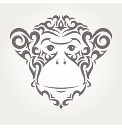 Monkey symbol of New Year vector