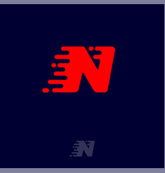 N letter winds movement dynamic logo velocity vector