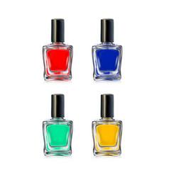 nail polish bottles on white background vector image
