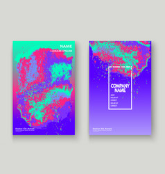 neon gemstone artistic cover design fluid vector image
