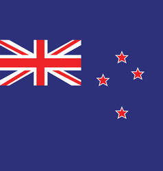 new zealand flag for independence day and vector image