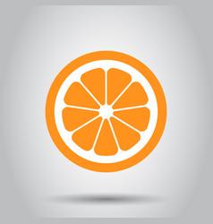 Orange fruit icon in flat style orange citrus on vector