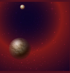 Planet star milky way in outer space vector