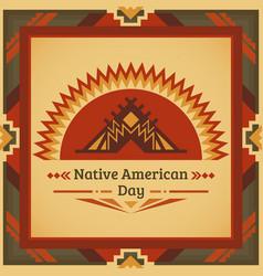 Poster banner greeting card for tribal festival vector