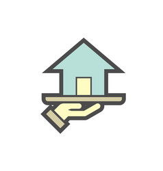 Real estate agent and investment icon design vector