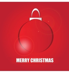 red christmas card vector image