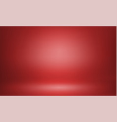 Red studio background or backdrop 3d room lightbox vector