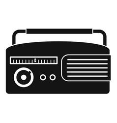 retro radio icon simple style vector image