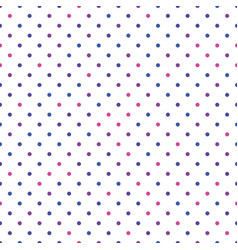 seamless polka dot pattern pink violet and blue vector image