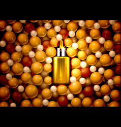 serum oil product medical aroma extract nature vector image