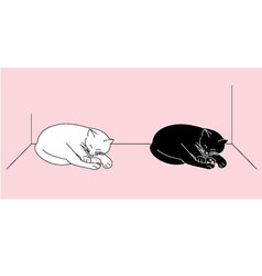 Sleeping cats vector
