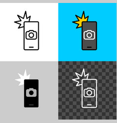smartphone camera shot icon take picture symbol vector image