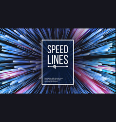 Speed lines explosion effect space vector