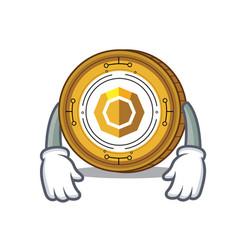 Tired komodo coin mascot cartoon vector