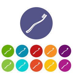 toothbrush icon simple black style vector image