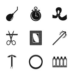 Type contraception icon set simple style vector
