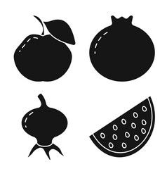 vegetarian and organic icon vector image